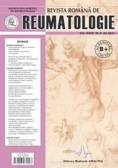 Romanian Journal of Rheumatology, Volume XXIII, No. 3, 2014