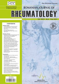 Romanian Journal of Rheumatology, Volume XXVI, No. 2, 2017