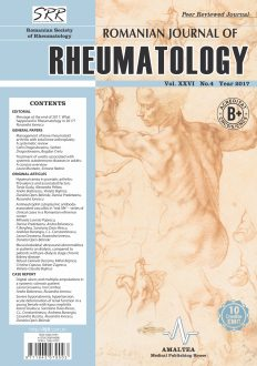 Romanian Journal of Rheumatology, Volume XXVI, No. 4, 2017