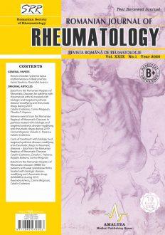 Romanian Journal of Rheumatology, Volume XXIX, No. 1, 2020