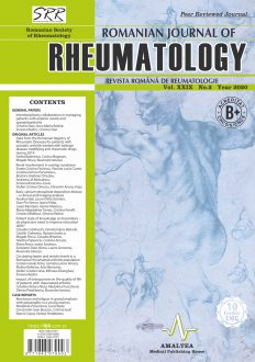 Romanian Journal of Rheumatology, Volume XXIX, No. 2, 2020