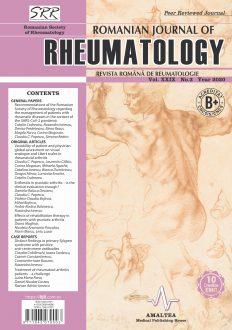 Romanian Journal of Rheumatology, Volume XXIX, No. 3, 2020