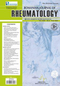 Romanian Journal of Rheumatology, Volume XXX, No. 2, 2021