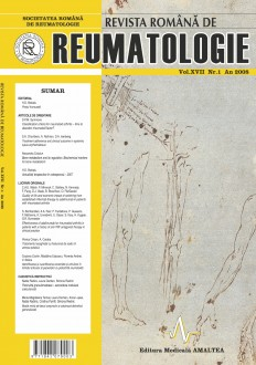 Romanian Journal of Rheumatology, Volume XVII, No. 1, 2008