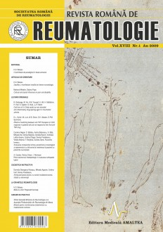 Romanian Journal of Rheumatology, Volume XVIII, No. 1, 2009