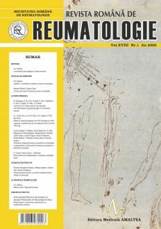 Romanian Journal of Rheumatology, Volume XVIII, No. 1, 2009
