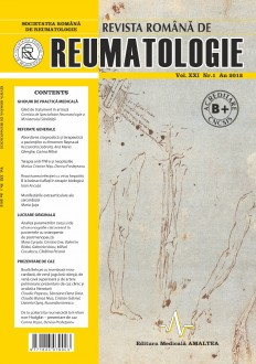 Romanian Journal of Rheumatology, Volume XXI, No. 1, 2012