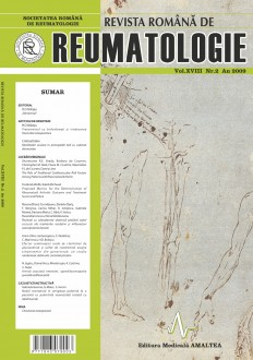 Romanian Journal of Rheumatology, Volume XVIII, No. 2, 2009