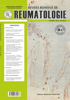 Romanian Journal of Rheumatology, Volume XX, No. 2, 2011