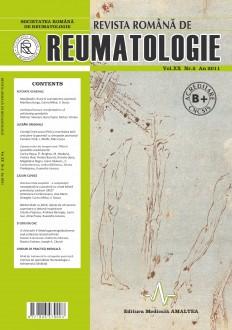 Romanian Journal of Rheumatology, Volume XX, No. 2, 2011