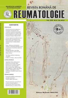 Romanian Journal of Rheumatology, Volume XXI, No. 2, 2012