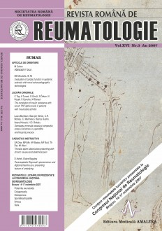 Romanian Journal of Rheumatology, Volume XVI, No. 3, 2007