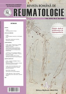 Romanian Journal of Rheumatology, Volume XVII, No. 3, 2008