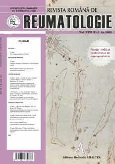 Romanian Journal of Rheumatology, Volume XVII, No. 3, 2008