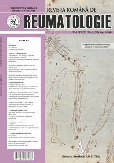 Romanian Journal of Rheumatology, Volume XVIII, No. 3, 2009