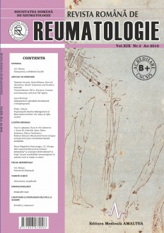 Romanian Journal of Rheumatology, Volume XIX, No. 3, 2010