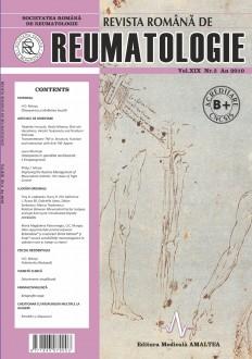 Romanian Journal of Rheumatology, Volume XIX, No. 3, 2010