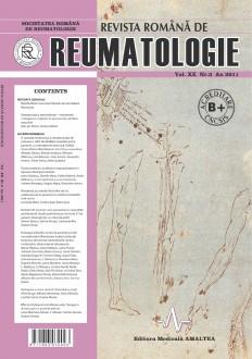 Romanian Journal of Rheumatology, Volume XX, No. 3, 2011