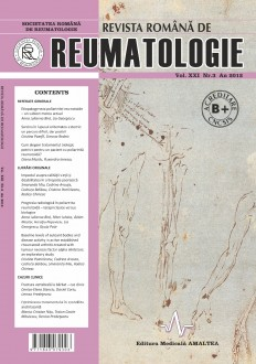 Romanian Journal of Rheumatology, Volume XXI, No. 3, 2012