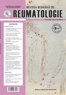 Romanian Journal of Rheumatology, Volume XXI, No. 3, 2012