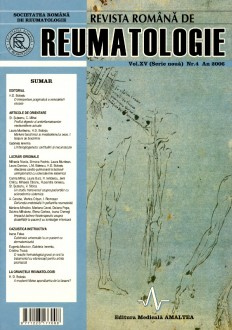 Romanian Journal of Rheumatology, Volume XV, No. 4, 2006
