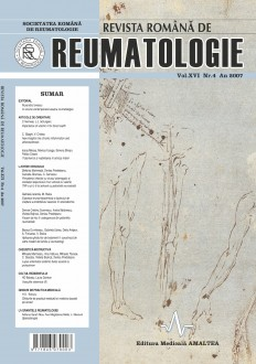 Romanian Journal of Rheumatology, Volume XVI, No. 4, 2007