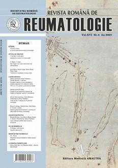 Romanian Journal of Rheumatology, Volume XVI, No. 4, 2007