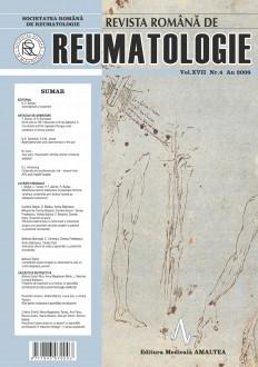 Romanian Journal of Rheumatology, Volume XVII, No. 4, 2008