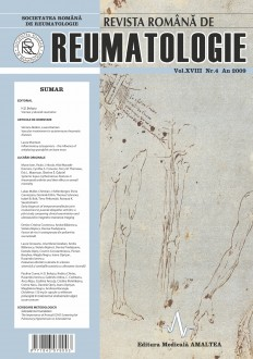 Romanian Journal of Rheumatology, Volume XVIII, No. 4, 2009