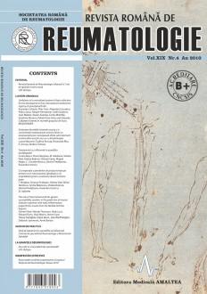 Romanian Journal of Rheumatology, Volume XIX, No. 4, 2010