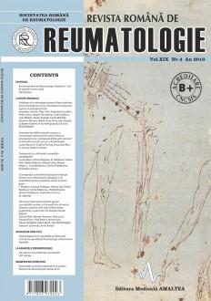 Romanian Journal of Rheumatology, Volume XIX, No. 4, 2010