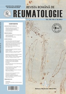 Romanian Journal of Rheumatology, Volume XX, No. 4, 2011