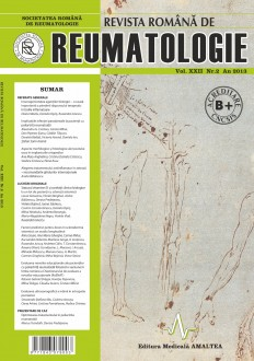 Romanian Journal of Rheumatology, Volume XXII, No. 2, 2013