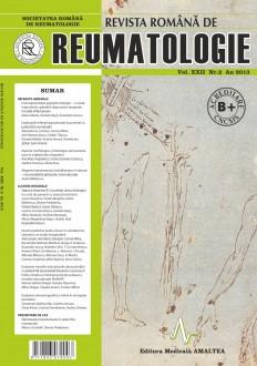 Romanian Journal of Rheumatology, Volume XXII, No. 2, 2013