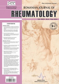Romanian Journal of Rheumatology, Volume XXIV, No. 3, 2015