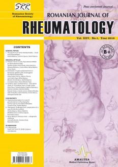 Romanian Journal of Rheumatology, Volume XXV, No. 1, 2016