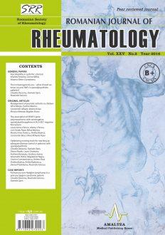 Romanian Journal of Rheumatology, Volume XXV, No. 2, 2016