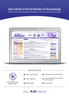 Romanian Journal of RHEUMATOLOGY